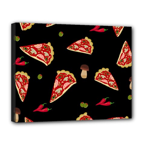 Pizza Slice Patter Canvas 14  X 11  by Valentinaart