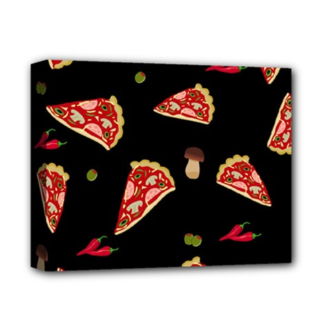 Pizza Slice Patter Deluxe Canvas 14  X 11  by Valentinaart