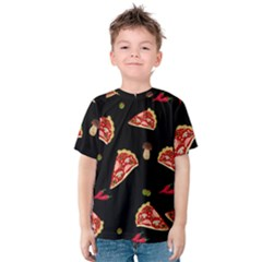 Pizza Slice Patter Kids  Cotton Tee