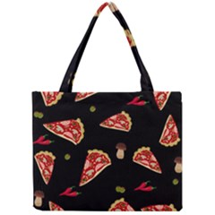 Pizza Slice Patter Mini Tote Bag by Valentinaart