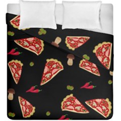 Pizza Slice Patter Duvet Cover Double Side (king Size) by Valentinaart