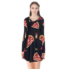 Pizza Slice Patter Flare Dress by Valentinaart
