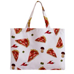Pizza Pattern Mini Tote Bag by Valentinaart