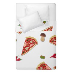 Pizza Pattern Duvet Cover Double Side (single Size) by Valentinaart
