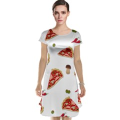 Pizza Pattern Cap Sleeve Nightdress