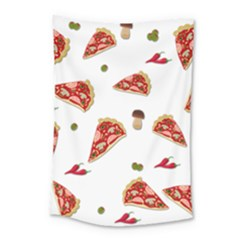 Pizza Pattern Small Tapestry