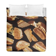 Delicious Snacks Duvet Cover Double Side (full/ Double Size) by Brittlevirginclothing