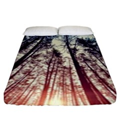Up View Forest Fitted Sheet (king Size) by Brittlevirginclothing