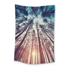 Up View Forest Small Tapestry by Brittlevirginclothing