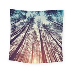 Up View Forest Square Tapestry (small) by Brittlevirginclothing