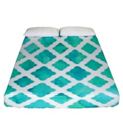 Blue Mosaic Fitted Sheet (king Size)