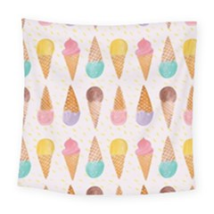 Cute Ice Cream Square Tapestry (large) by Brittlevirginclothing