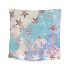 Pastel Stars Square Tapestry (small) by Brittlevirginclothing
