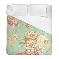 Vintage Pastel Flower Duvet Cover (full/ Double Size) by Brittlevirginclothing