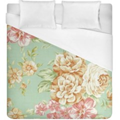 Vintage Pastel Flower Duvet Cover (king Size) by Brittlevirginclothing