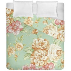 Vintage Pastel Flower Duvet Cover Double Side (california King Size) by Brittlevirginclothing