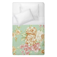 Vintage Pastel Flower Duvet Cover (single Size) by Brittlevirginclothing