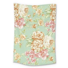 Vintage Pastel Flower Large Tapestry by Brittlevirginclothing