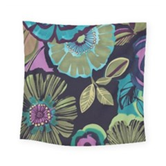 Dark Lila Flower Square Tapestry (small) by Brittlevirginclothing