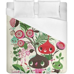 Cute Cartoon Duvet Cover (california King Size) by Brittlevirginclothing
