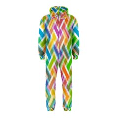 Abstract Pattern Colorful Wallpaper Hooded Jumpsuit (kids) by Amaryn4rt