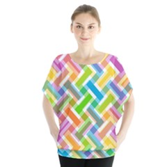 Abstract Pattern Colorful Wallpaper Blouse