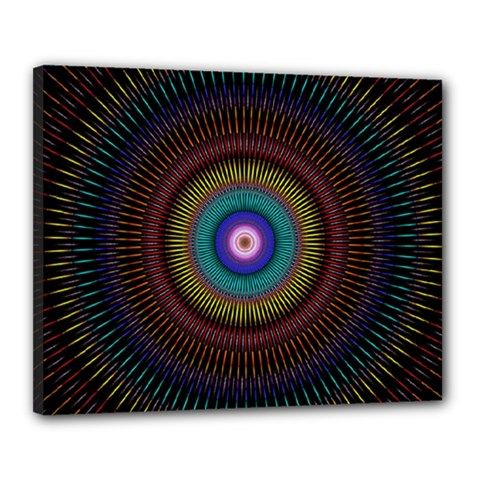 Artskop Kaleidoscope Pattern Ornamen Mantra Canvas 20  X 16