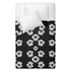 Dark Floral Duvet Cover Double Side (single Size) by dflcprints