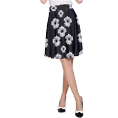 Dark Floral A Line Skirt by dflcprintsclothing