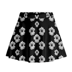 Dark Floral Mini Flare Skirt by dflcprintsclothing