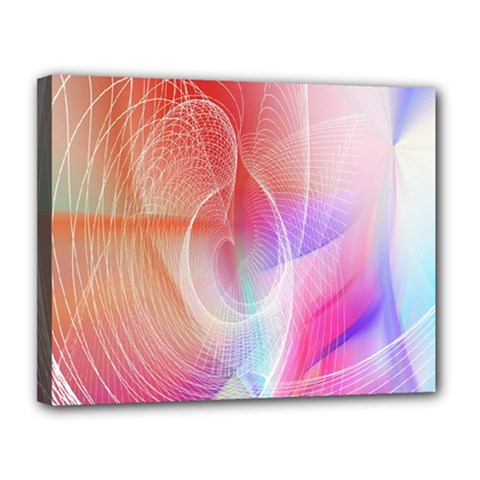 Background Nebulous Fog Rings Canvas 14  X 11  by Amaryn4rt