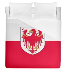 Flag Of South Tyrol Duvet Cover (queen Size) by abbeyz71