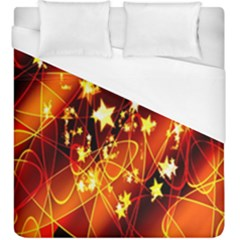 Background Pattern Lines Oval Duvet Cover (king Size)