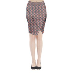 Background Pattern Texture Midi Wrap Pencil Skirt by Amaryn4rt
