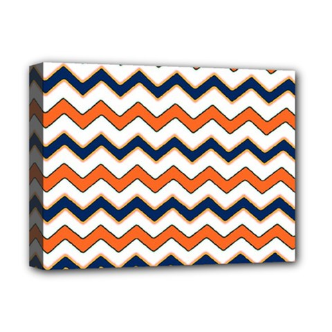 Chevron Party Pattern Stripes Deluxe Canvas 16  X 12   by Amaryn4rt