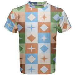 Fabric Textile Textures Cubes Men s Cotton Tee