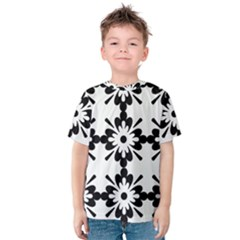Floral Illustration Black And White Kids  Cotton Tee