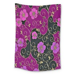 Floral Pattern Background Large Tapestry by Amaryn4rt