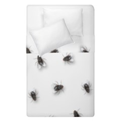 Flies Duvet Cover Double Side (single Size) by Valentinaart