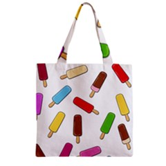 Ice Cream Pattern Zipper Grocery Tote Bag