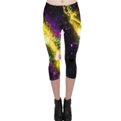 Galaxy Deep Space Space Universe Stars Nebula Capri Leggings