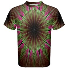 Julian Star Star Fun Green Violet Men s Cotton Tee