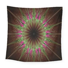 Julian Star Star Fun Green Violet Square Tapestry (large) by Amaryn4rt