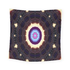 Mandala Art Design Pattern Ornament Flower Floral Square Tapestry (small)