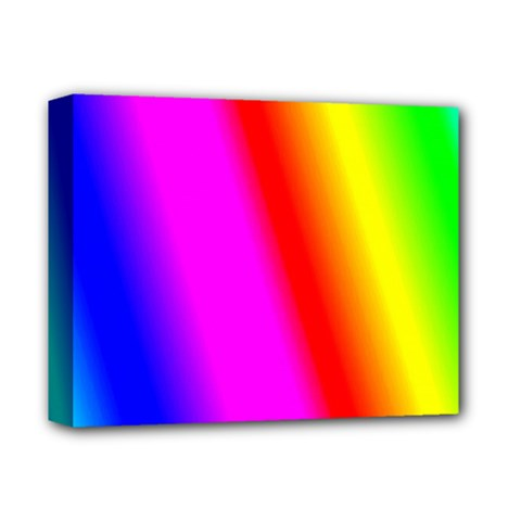 Multi Color Rainbow Background Deluxe Canvas 14  X 11  by Amaryn4rt