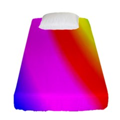 Multi Color Rainbow Background Fitted Sheet (single Size) by Amaryn4rt