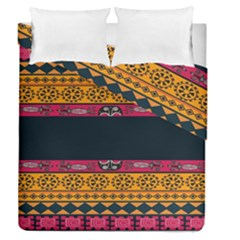 Pattern Ornaments Africa Safari Summer Graphic Duvet Cover Double Side (queen Size) by Amaryn4rt