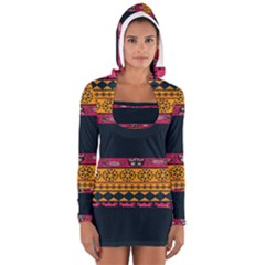 Pattern Ornaments Africa Safari Summer Graphic Women s Long Sleeve Hooded T Shirt by Amaryn4rt