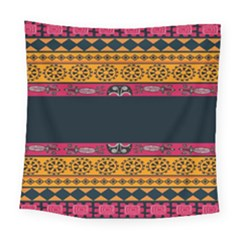 Pattern Ornaments Africa Safari Summer Graphic Square Tapestry (large) by Amaryn4rt
