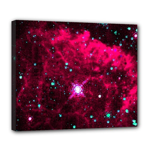 Pistol Star And Nebula Deluxe Canvas 24  X 20   by Amaryn4rt
